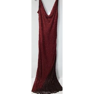 Stenay Red Ombre Gown